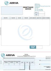 Arriva Invoice